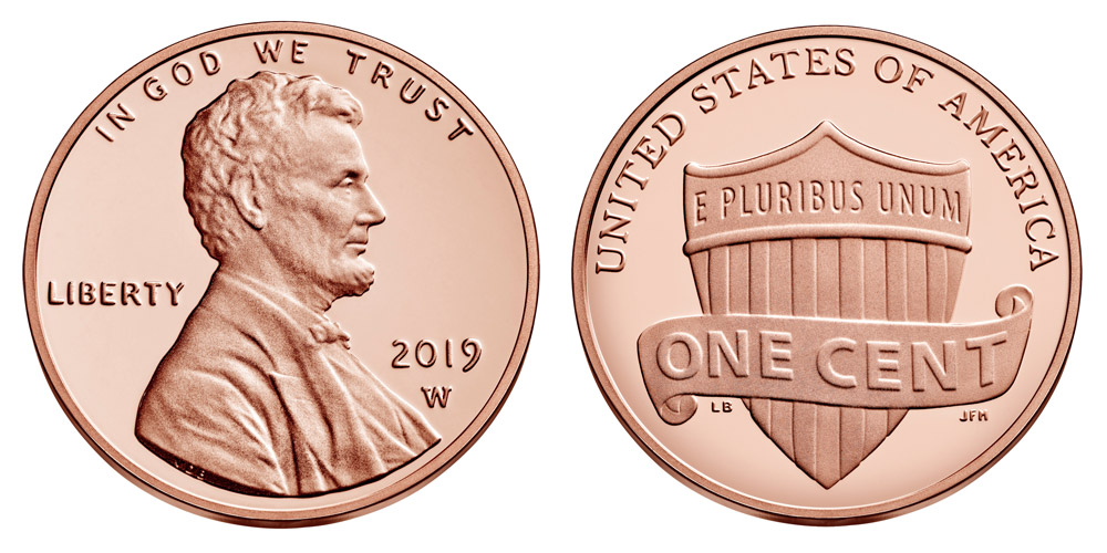 2019 w lincoln shield penny coin value prices photos info. Black Bedroom Furniture Sets. Home Design Ideas