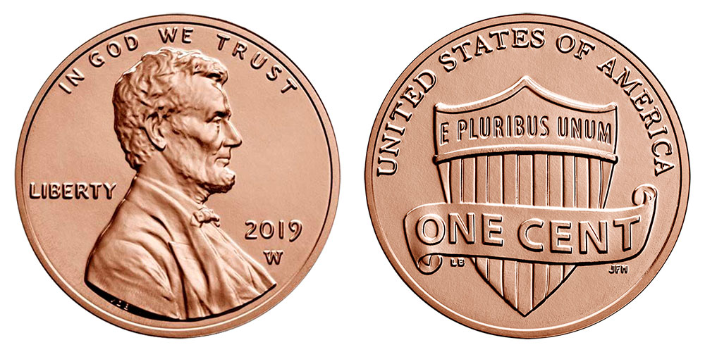 2019-S ROLL OF 40 penny 1C Lincoln Shield PROOF Cent Deep Cameo