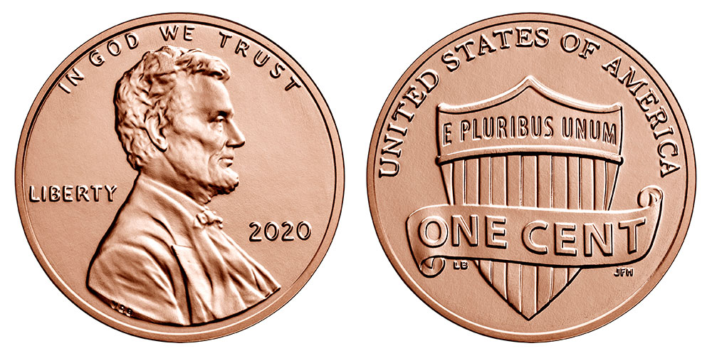 2019 P /& D BU Lincoln Shield Cent Choice Uncirculated US Mint 2 Coin Set