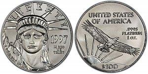 1997 American Platinum Eagle