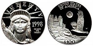 1998 American Platinum Eagle