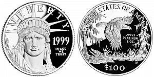 1999 American Platinum Eagle
