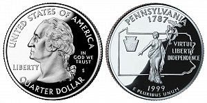 1999 Pennsylvania State Quarter