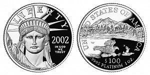 2002 American Platinum Eagle
