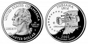 2002 Indiana State Quarter