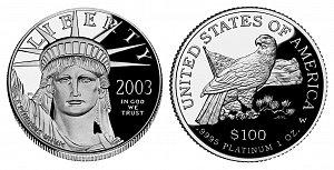 2003 American Platinum Eagle
