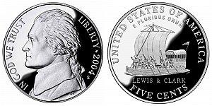 2004 Westward Journey Jefferson Nickel - Keelboat