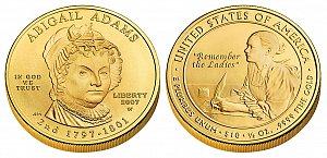 2007 Abigail Adams First Spouse Gold Coin