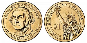 2007 George Washington Presidential Dollar Coin