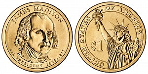 2007 James Madison Presidential Dollar Coin
