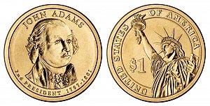 2007 John Adams Presidential Dollar Coin