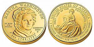 2007 Martha Washington First Spouse Gold Coin