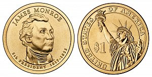 2008 James Monroe Presidential Dollar Coin