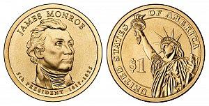 2008 James Monroe Presidential Dollar Coin