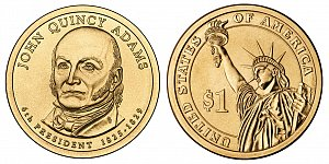 2008 John Quincy Adams Presidential Dollar Coin