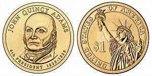 2008 John Quincy Adams Presidential Dollar Coin