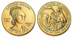 2008 Louisa Adams First Spouse Gold Coin