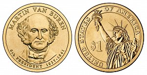2008 Martin Van Buren Presidential Dollar Coin