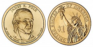 2009 James K. Polk Presidential Dollar Coin
