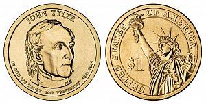 2009 John Tyler Presidential Dollar Coin