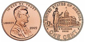 2009 Lincoln Bicentennial Cent - Professional Life in Illionis Capitol
