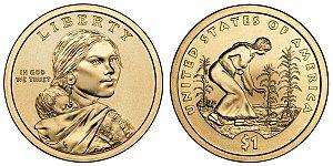 2009 Sacagawea Native American Dollar Coin