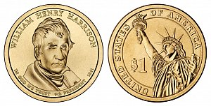 2009 William Henry Harrison Presidential Dollar Coin