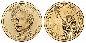 2010 Franklin Pierce Presidential Dollar Coin