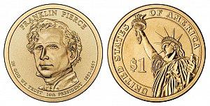 2010 Franklin Pierce Presidential Dollar Coin