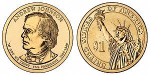 2011 Andrew Johnson Presidential Dollar Coin