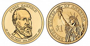 2011 James A. Garfield Presidential Dollar Coin