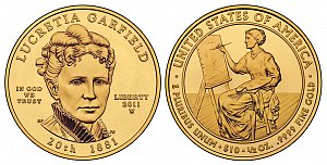 2011 Lucretia Garfield First Spouse Gold Coin