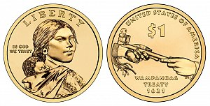 2011 Sacagawea Native American Dollar Coin