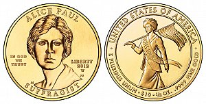 2012 Alice Paul First Spouse Gold Coin
