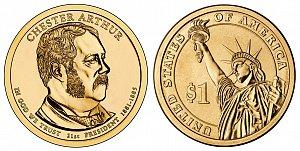 2012 Chester A. Arthur Presidential Dollar Coin