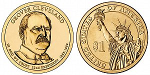 2012 Grover Cleveland 1st Term Presidential Dollar Coin