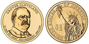 2012 Grover Cleveland 1st Term Presidential Dollar Coin