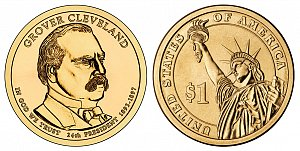 2012 Grover Cleveland 2nd Term Presidential Dollar Coin