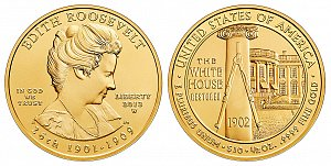 2013 Edith Roosevelt First Spouse Gold Coin