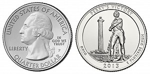 2013 Perry's Victory and International Peace Memorial Quarter - Ohio
