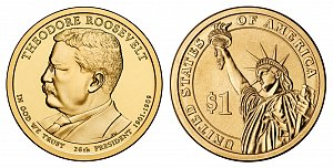 2013 Theodore Roosevelt Presidential Dollar Coin