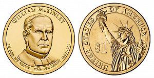 2013 William McKinley Presidential Dollar Coin
