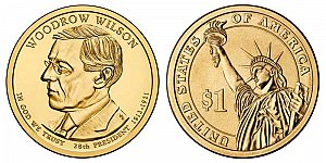 2013 Woodrow Wilson Presidential Dollar Coin