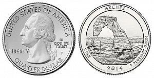 2014 Arches National Park Quarter Design - Utah