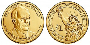 2014 Franklin D. Roosevelt Presidential Dollar Coin Design