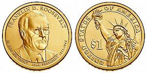 2014 Franklin D. Roosevelt Presidential Dollar Coin Design
