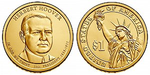 2014 Herbert Hoover Presidential Dollar Coin Design