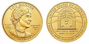 2014 Lou Hoover First Spouse Gold Coin
