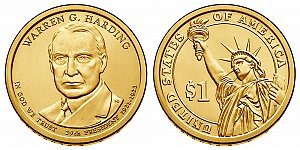 2014 Warren G. Harding Presidential Dollar Coin Design
