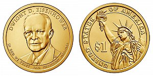 2015 Dwight D. Eisenhower Presidential Dollar Coin Design